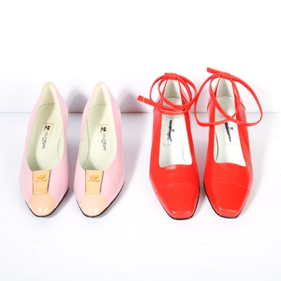 Two Pairs of Courreges Pumps