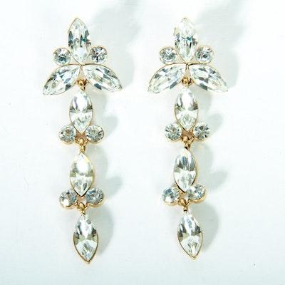 Napier Rhinestone Dangle Earrings