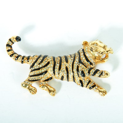 Vintage Hattie Carnegie Tiger Brooch
