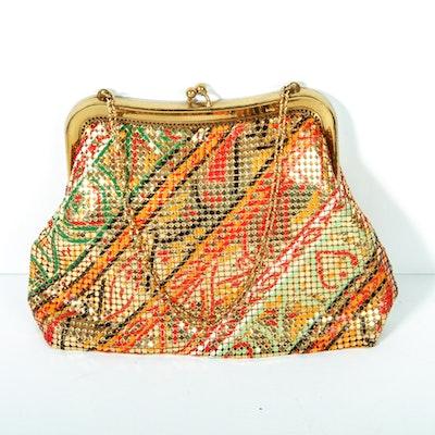 Vintage Mesh Whiting & Davis Handbag with Chain Strap