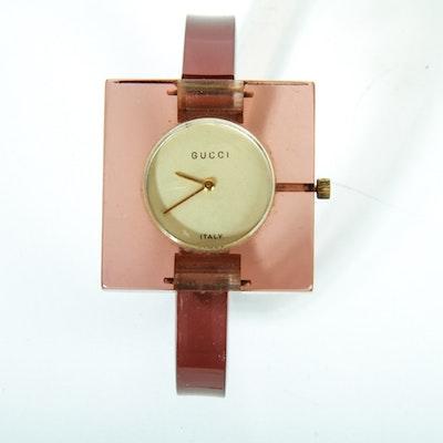 1970's Gucci Lucite Watch Bracelet