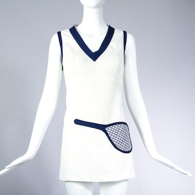 Vintage 1970s Novelty Tennis Dress