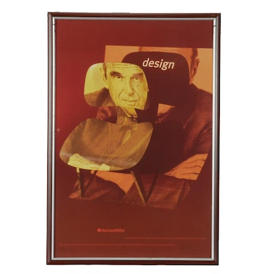 Herman Miller Eames Giclee Poster Designed and Signed by Brian Edlefson