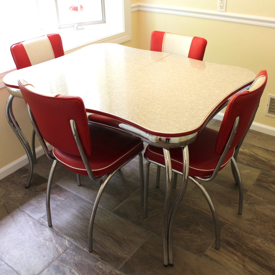 Vintage 1950's Kitchen Table and Chairs | EBTH