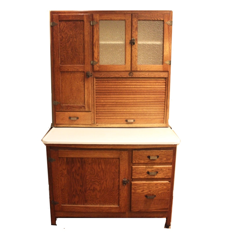 Hoosier Kitchen Cabinet: Antique Biederman Hoosier Cabinet : EBTH