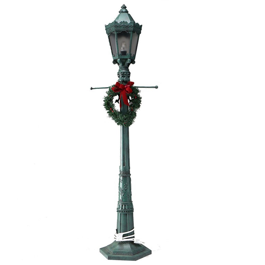 vintage 36 inch christmas lamp post decor