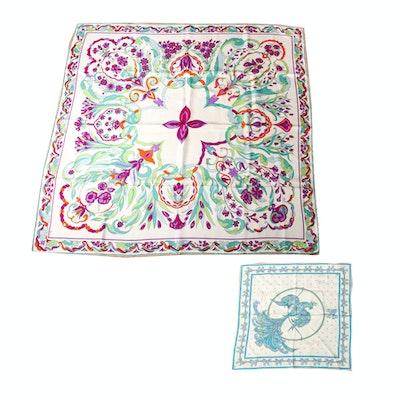 Pair of Vintage Emilio Pucci Printed Silk Scarves
