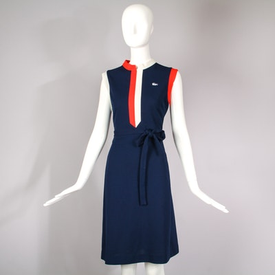 1970's Women's Lacoste Sleeveless Chemise Scooter Dress