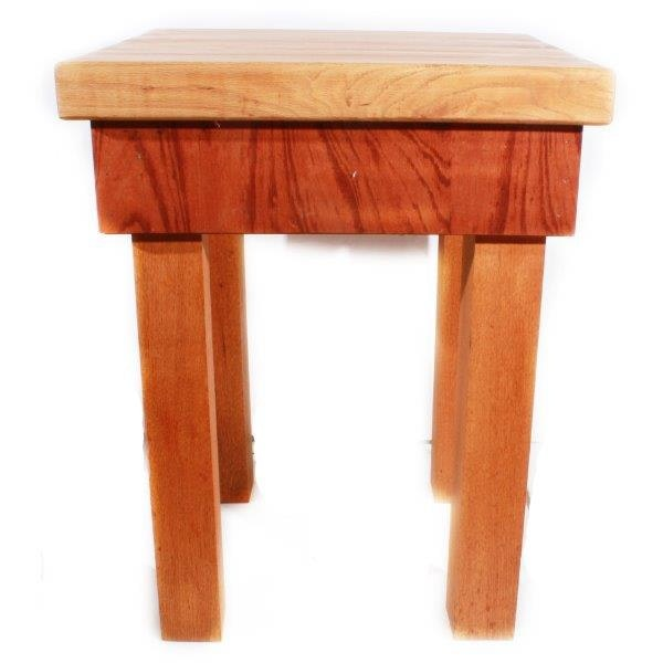 end grain maple top butcher block table ebth