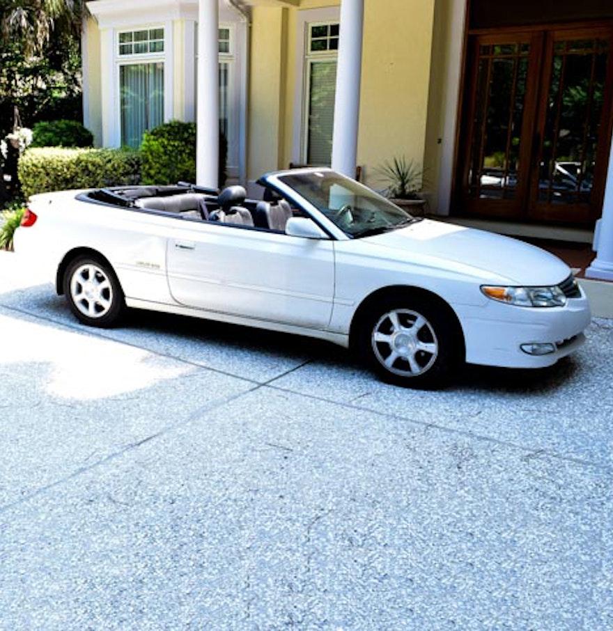 Toyota Convertible: White 2001 Toyota Solara SLE V6 Convertible : EBTH