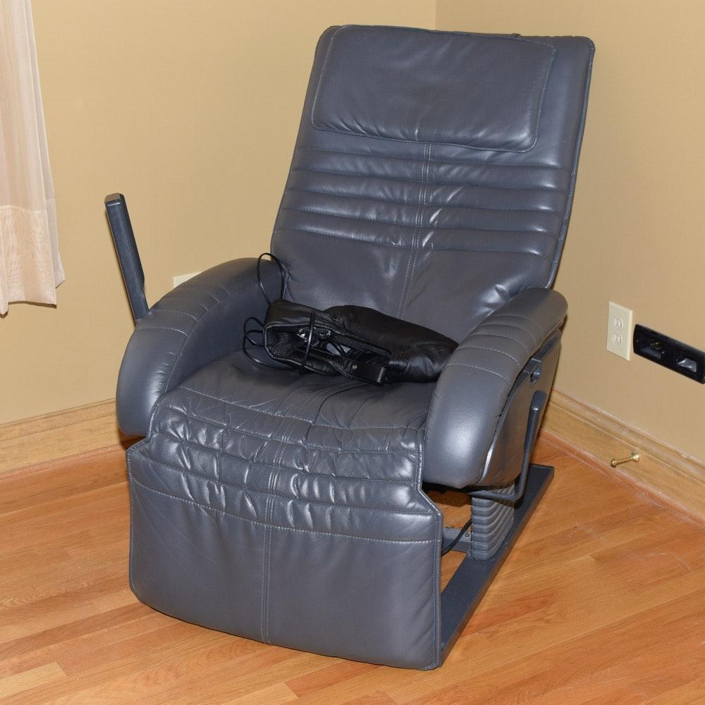 HWE Grey Vinyl Massage Chair And Brookstone I Need Massage Collar ...