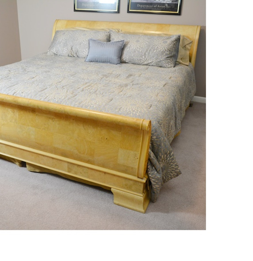 Henredon Furniture Charles X Collection King Sleigh Bed : EBTH