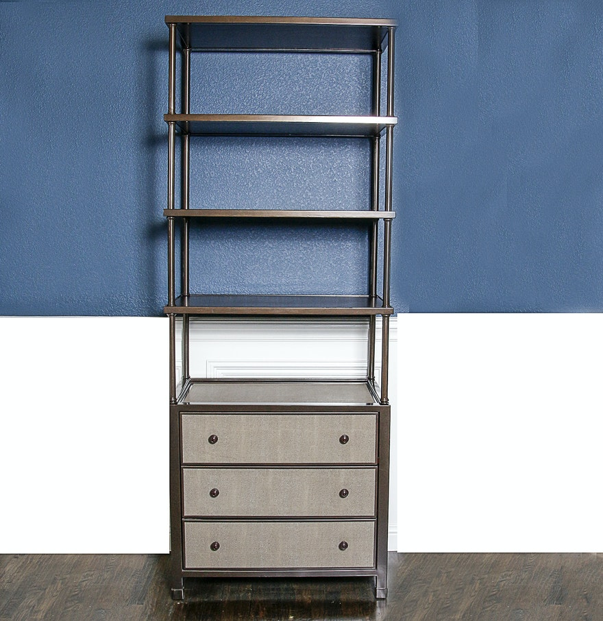 Stanley Furniture Shelf With Chest Of Drawers Ebth