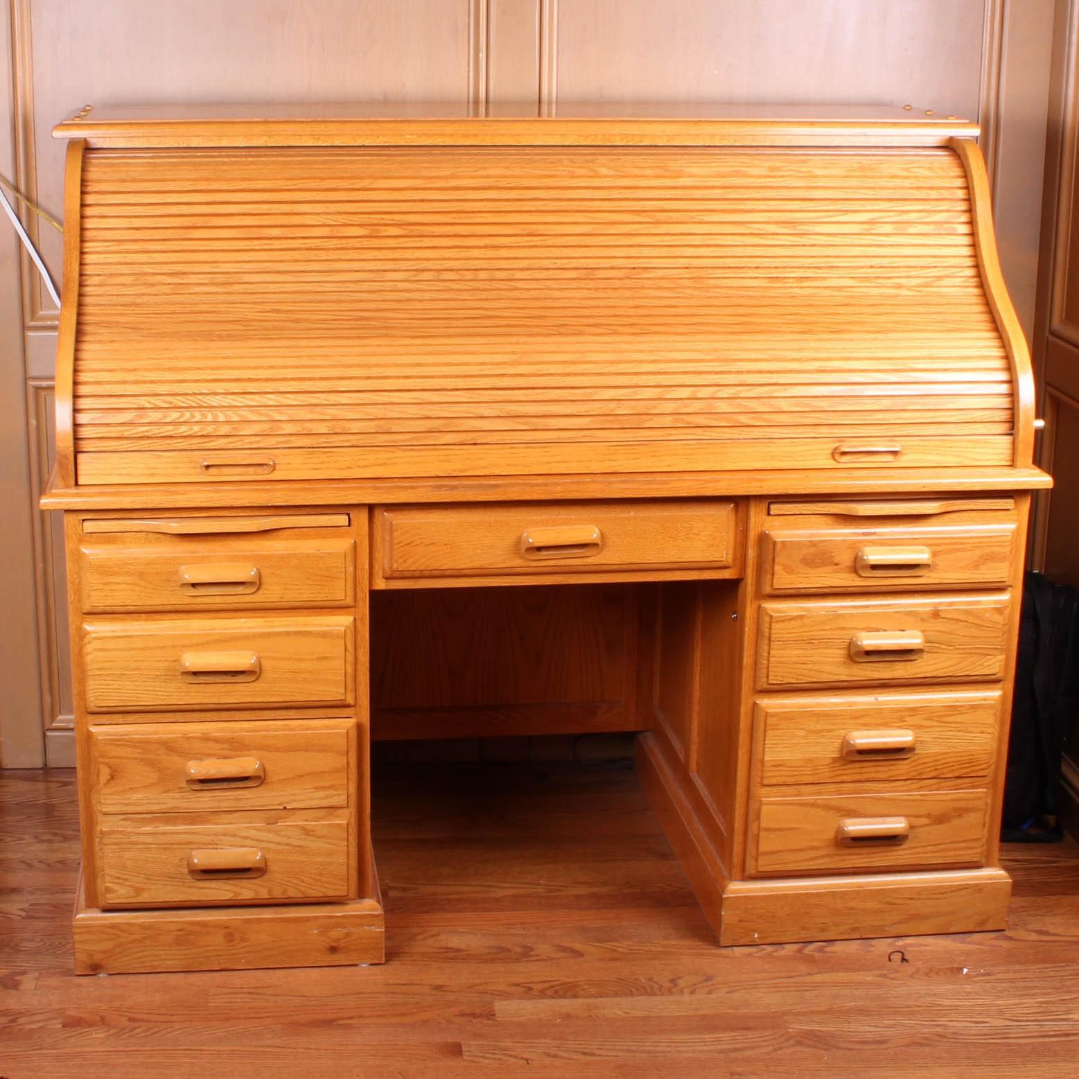 Oak Rolltop Desk Hostgarcia