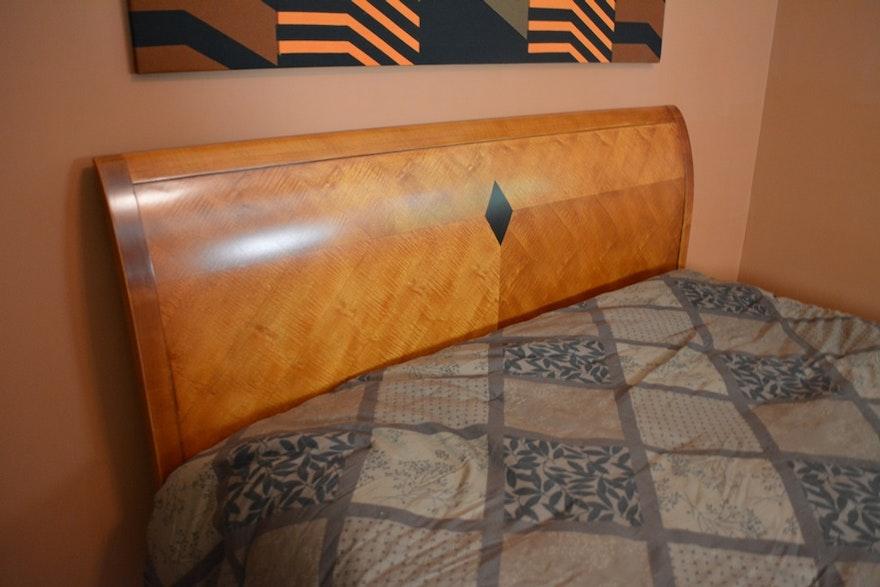 National Mt Airy Furniture Queen Biedermeier Style Cherry