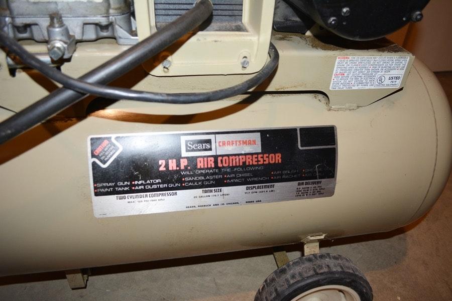 Sears Craftsman 220 Volt Air Compressor Ebth
