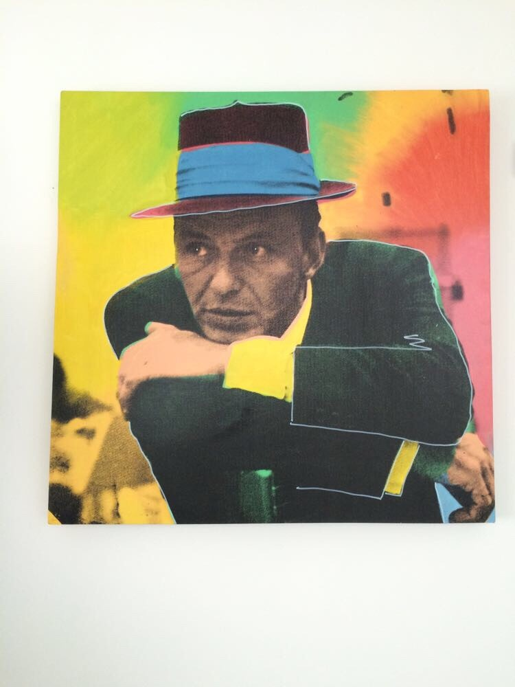 "Steve Kaufman Limited Edition Oil and Screen Print ""Legacy Suite"" Frank Sinatra"