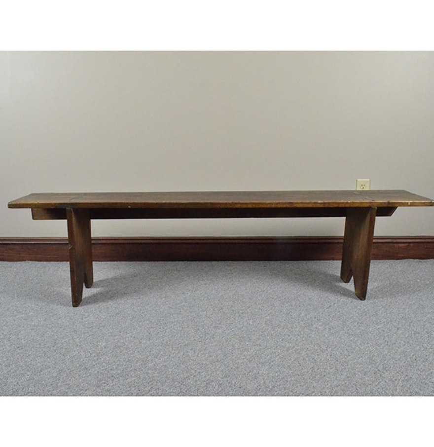 Antique Wooden Cricket Bench Ebth