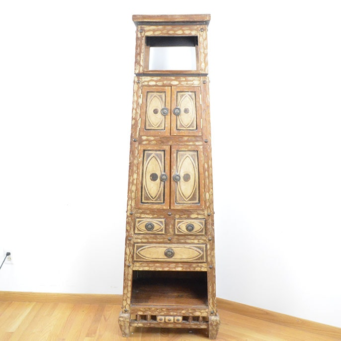Arhaus Carved Armoire