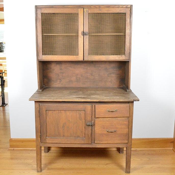 Antique Wooden Kitchen Cupboard