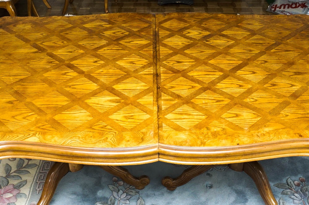 French Country Style Oak Parquet Dining Table EBTH : DSC5983jpgixlibrb 11 from www.ebth.com size 1000 x 665 jpeg 193kB