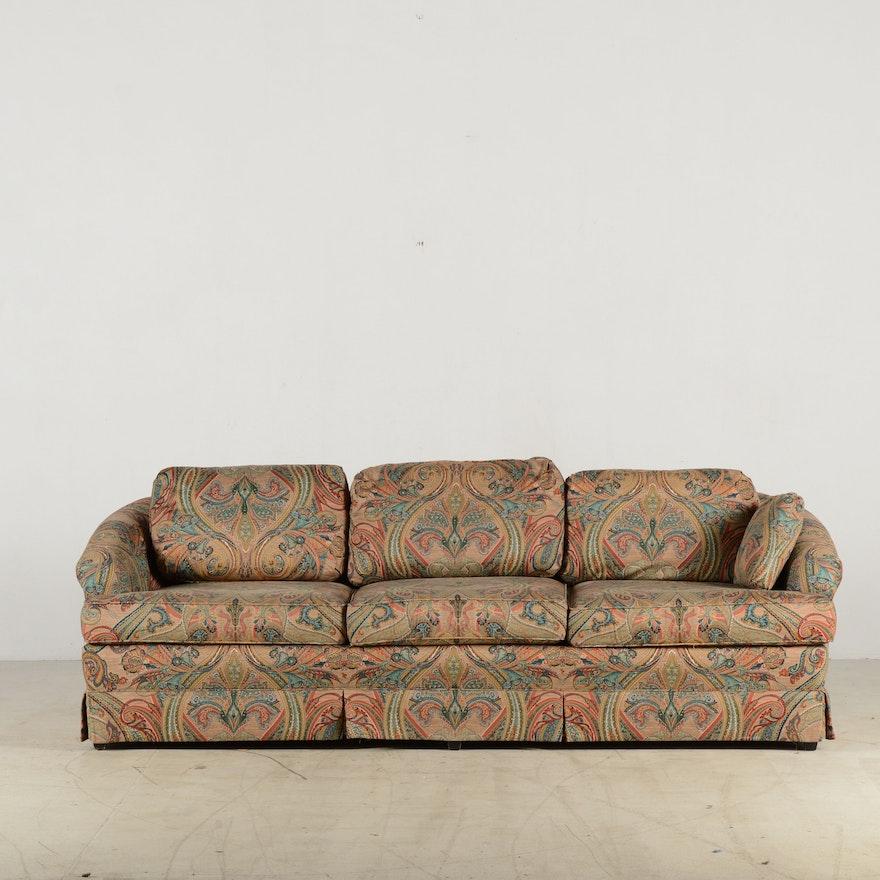J Royale Paisley Print Sofa Ebth