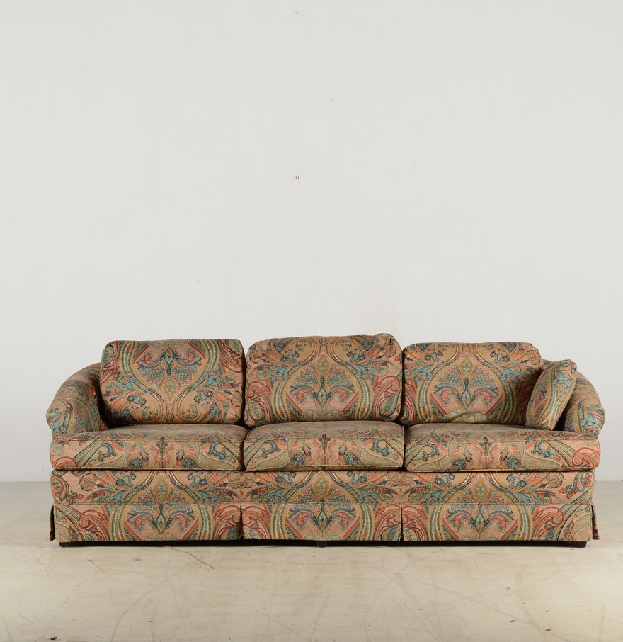 J  Royale Paisley Print Sofa  J  Royale Paisley Print Sofa   EBTH. Paisley Couch Living Room Furniture. Home Design Ideas