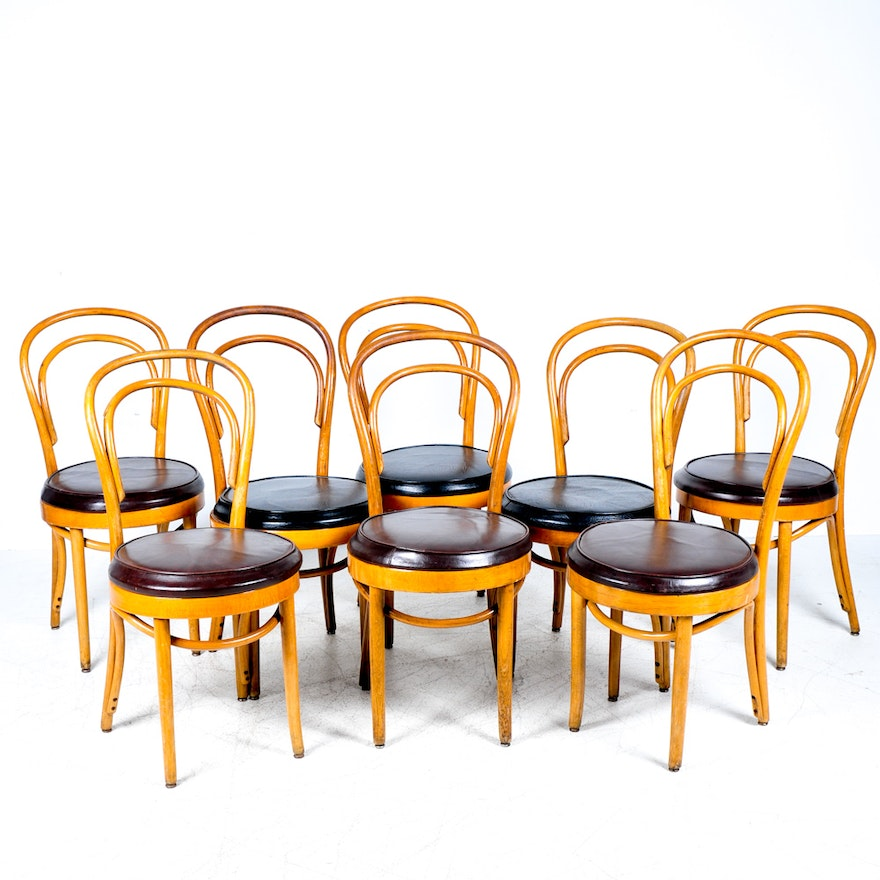 Set Of Vintage Shelby Williams Bentwood Dining Chairs