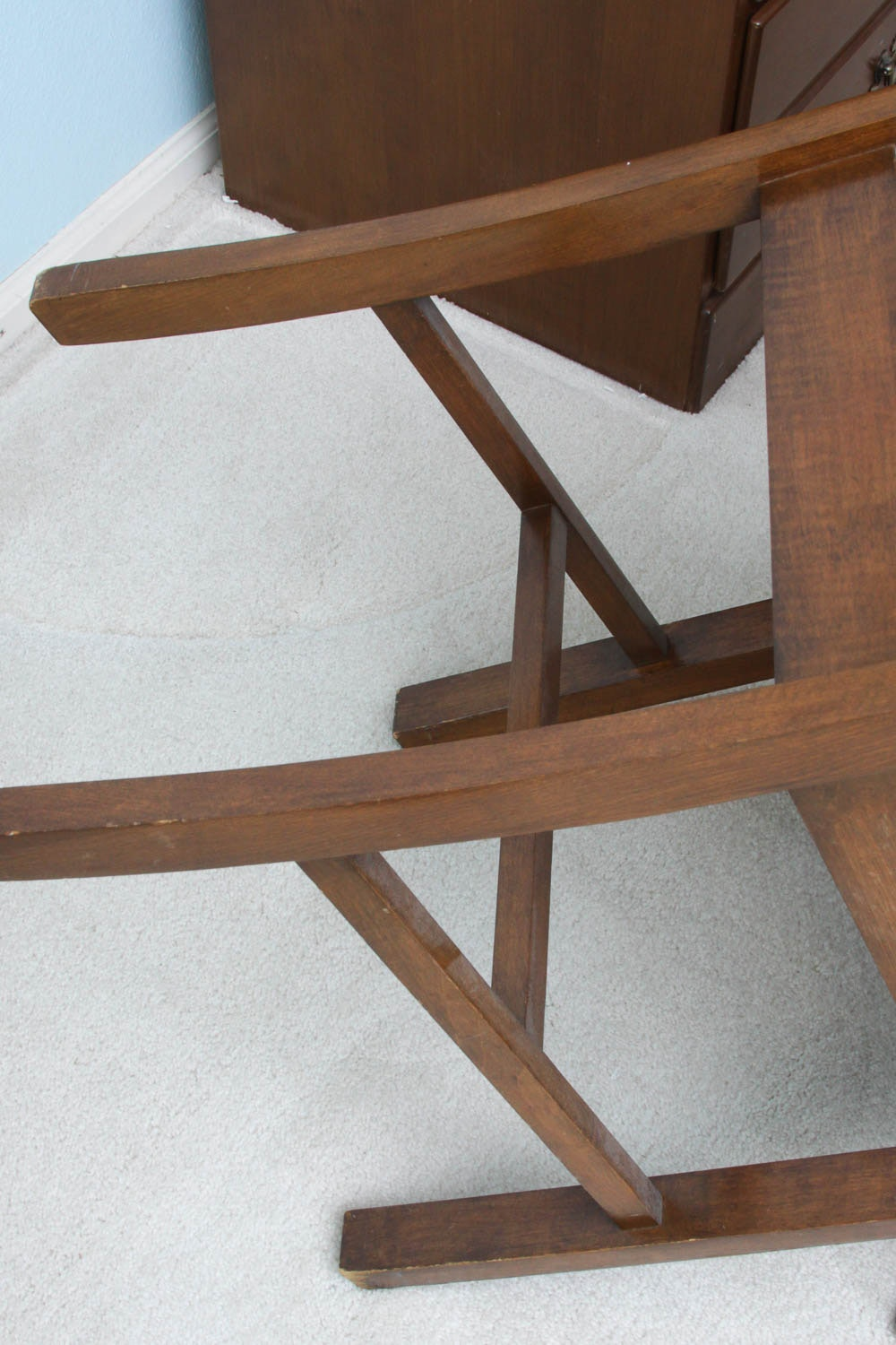 Ethan Allen Desk With Corner Bookcase And Chair Ebth