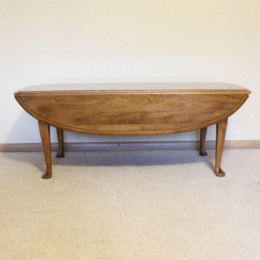 Ethan Allen Solid Maple Drop Leaf Coffee Table