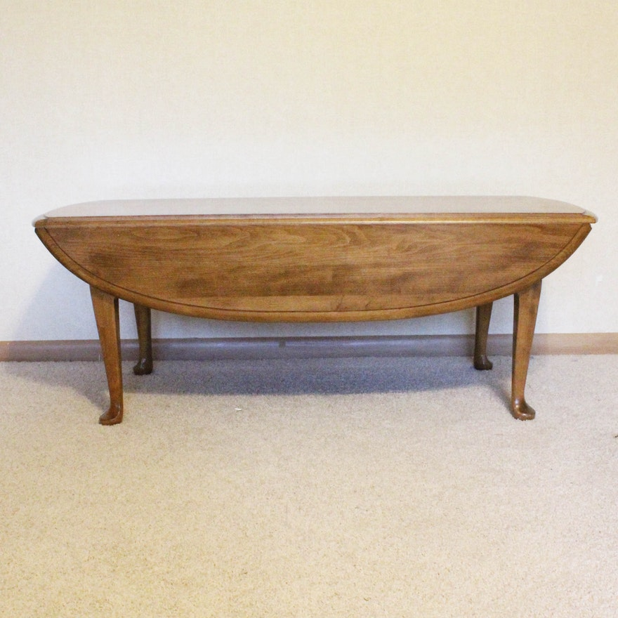 All Ethan Allen Coffee Tables: Ethan Allen Solid Maple Drop Leaf Coffee Table