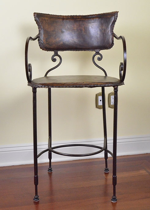 Group Of 20th Century Spanish Colonial Style Bar Stools Ebth