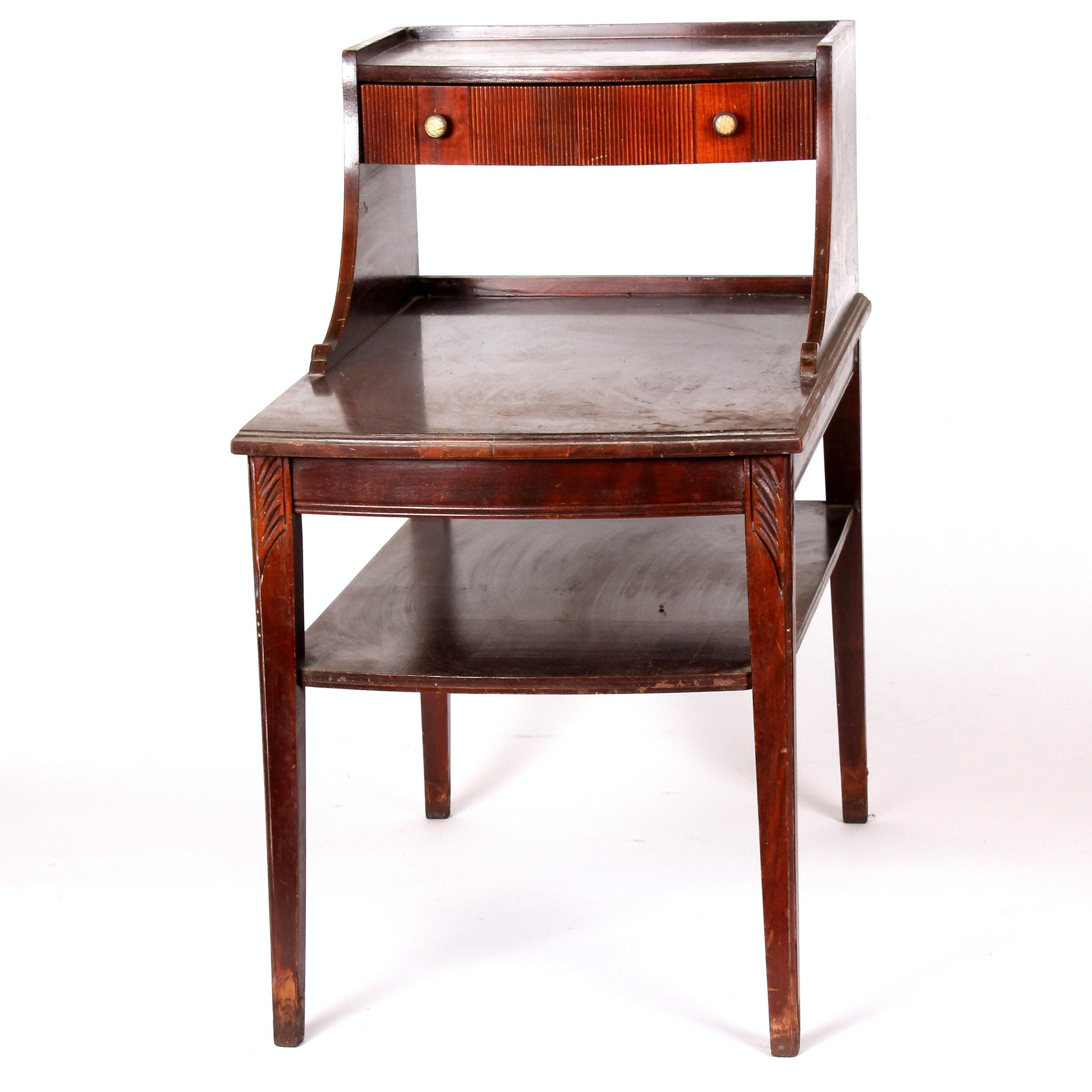 Vintage Mid Century Mersman Step Side Table ...