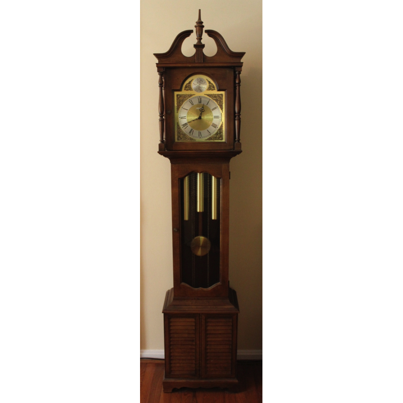 howard miller grandfather clock. vintage 1976 howard miller grandfather clock