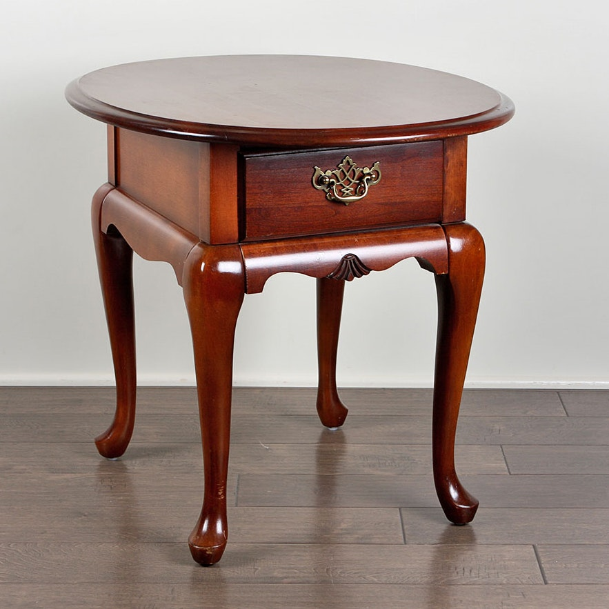 Queen Anne Style Broyhill Side Table ...