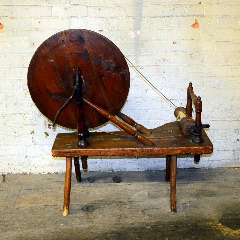 Vintage Charkha Spinning Wheel