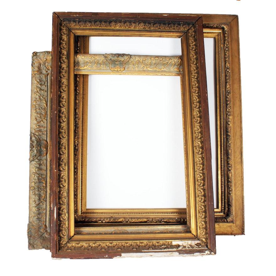 Set of Three Large Gold Gilt Painting Frames : EBTH