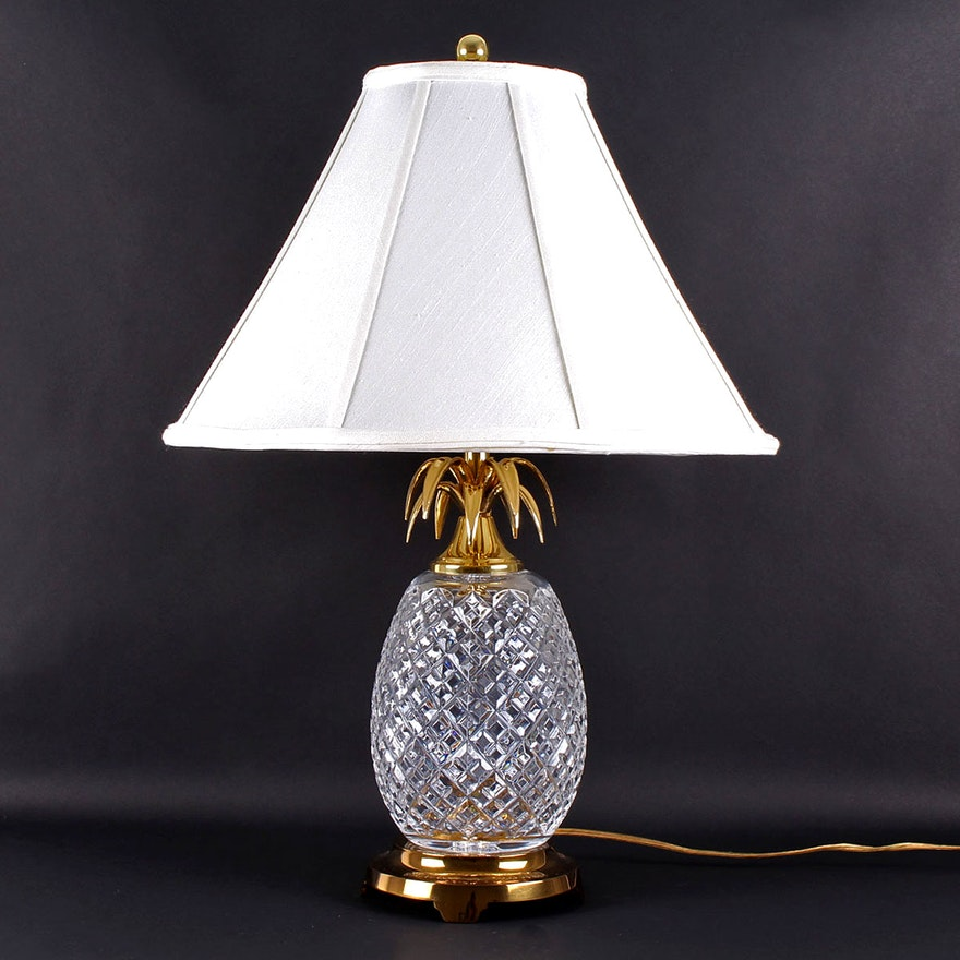 Waterford Crystal Pineapple Table Lamp Ebth