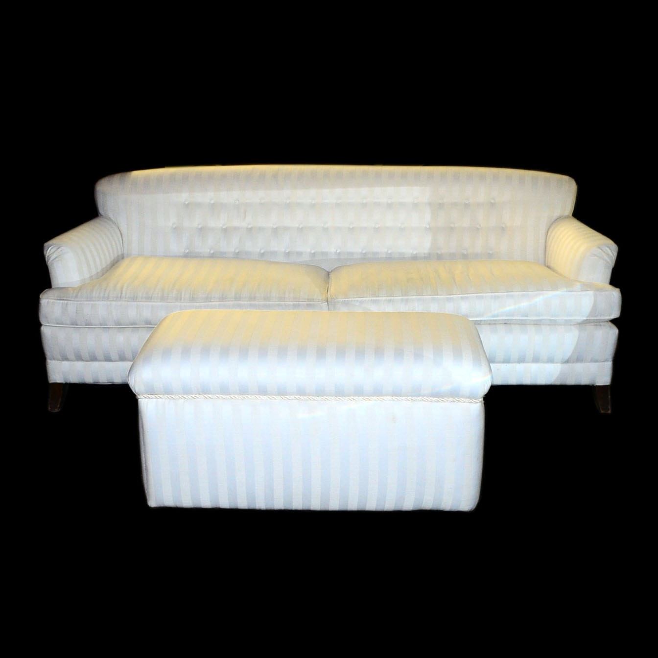 white vintage couch. White Contemporary Sofa \u0026 Matching Ottoman Vintage Couch V