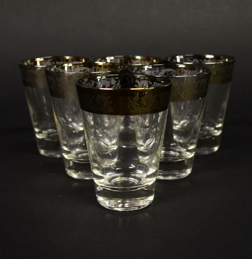 set of six midcentury modern shot glasses  ebth - set of six midcentury modern shot glasses