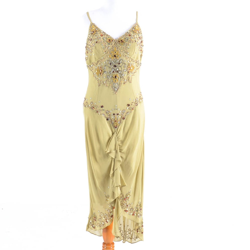 Sue Wong Nocturne Beaded Silk Dress
