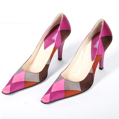 Pair of Emilio Pucci Patterened Heels