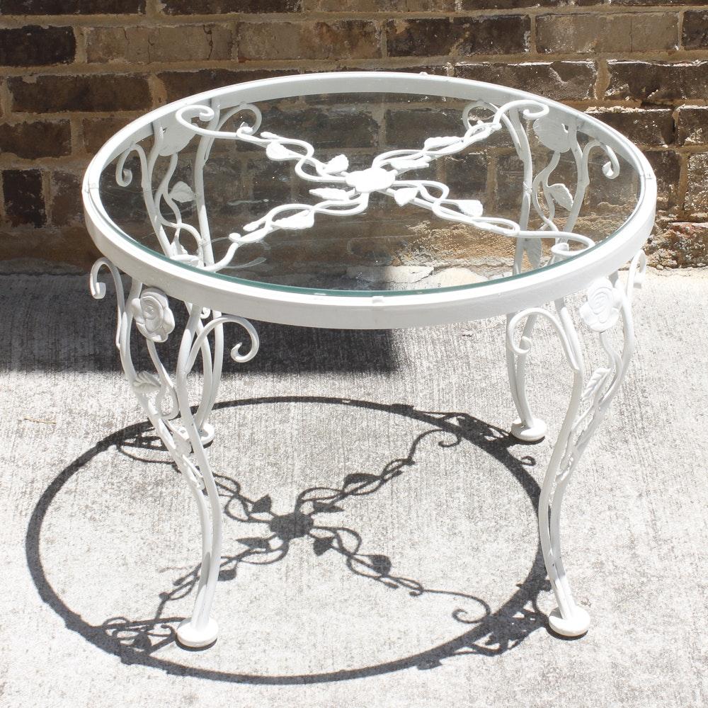 white metal mesh patio table home design ideas white metal and