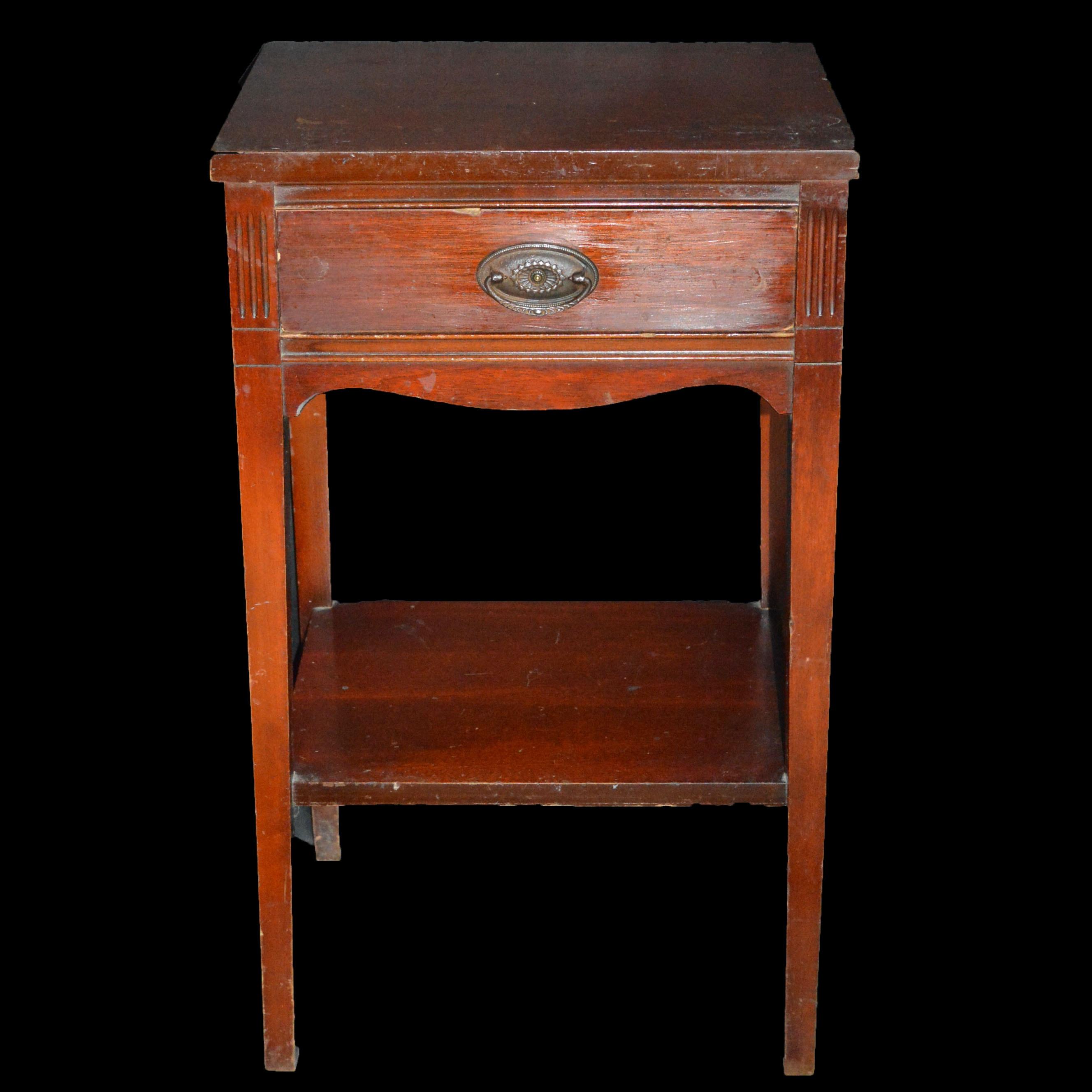 Mahogany Federalist Side Table ...