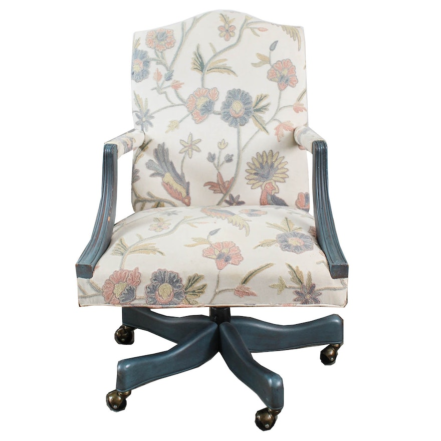promo code 5487f 06659 Floral Upholstered Office Chair