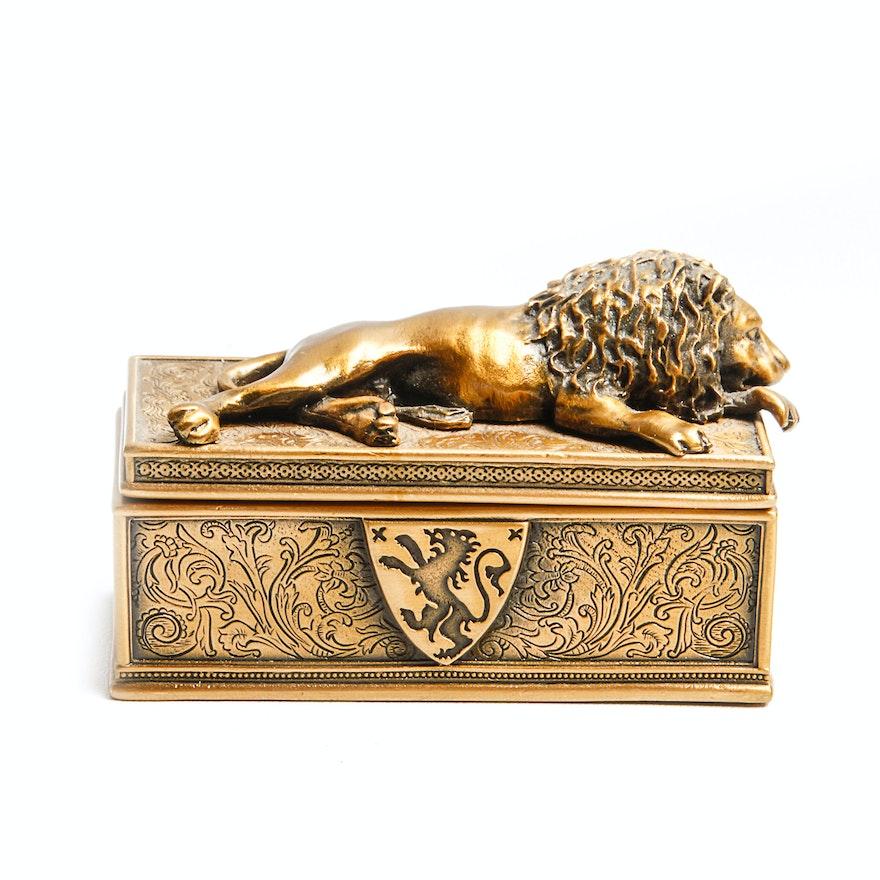 Edgar Berebi Limited Edition Br Lion Trinket Box
