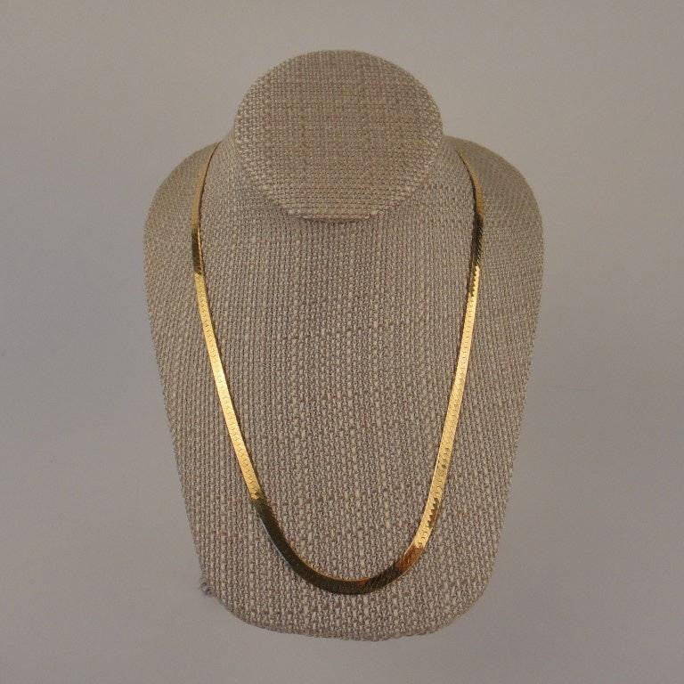 "14K Yellow Gold 20"" Herringbone Necklace"