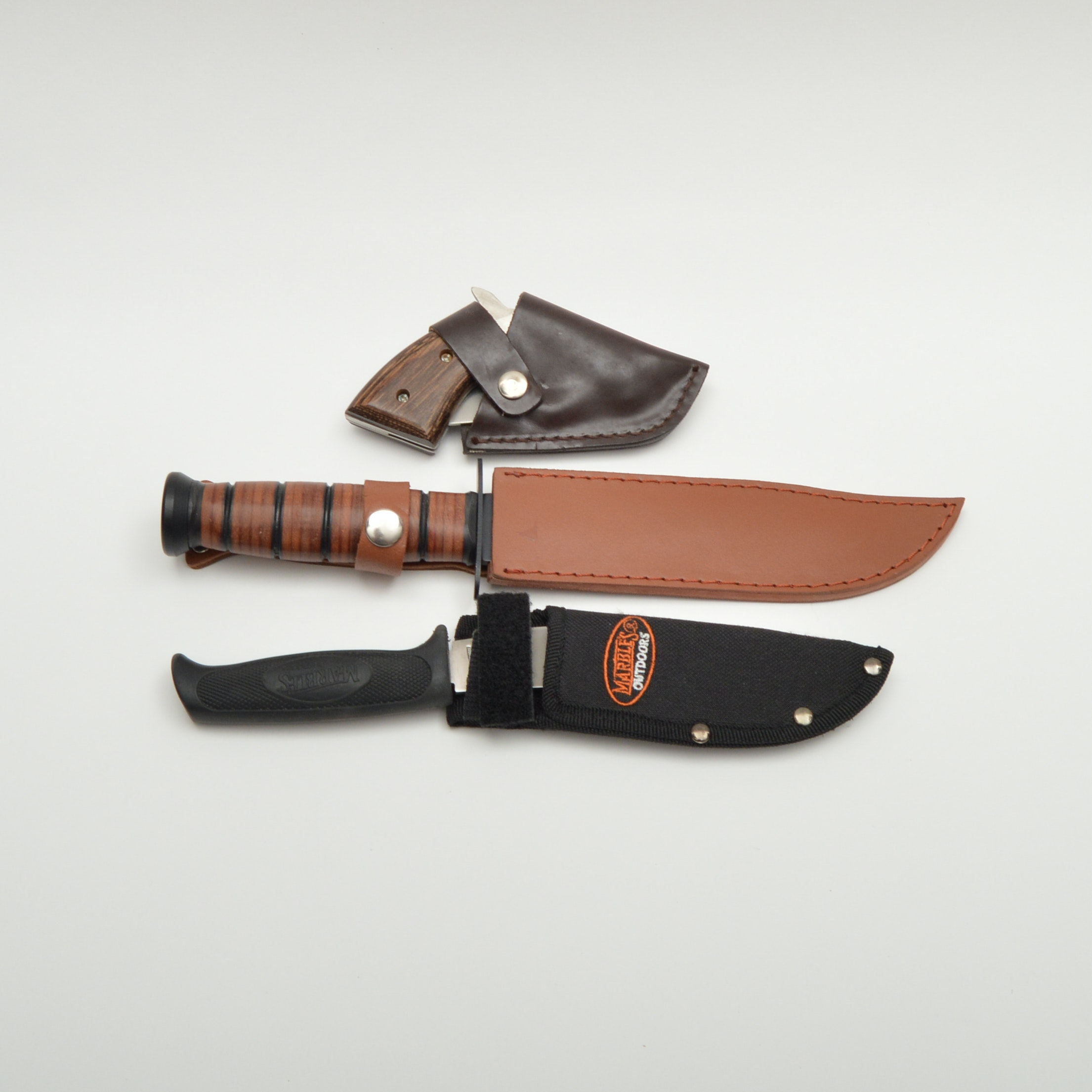 Knife Trio Including Marbles Outdoors
