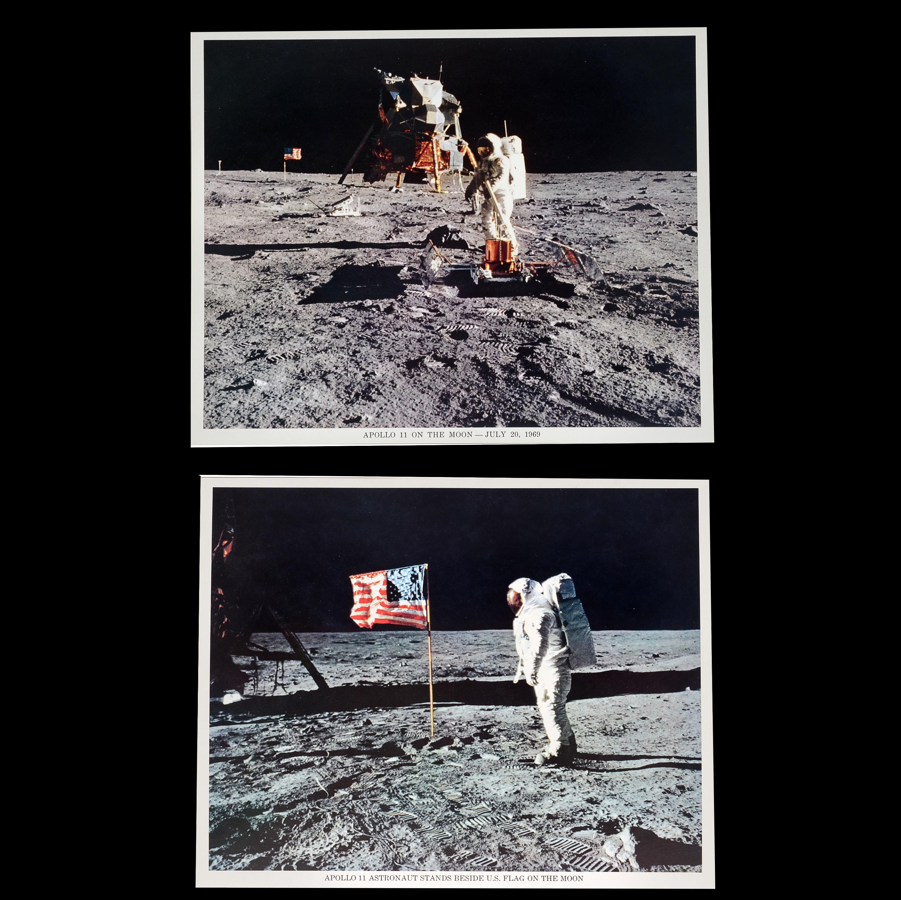 Two Apollo 11 Color Lithographic Publicity Prints