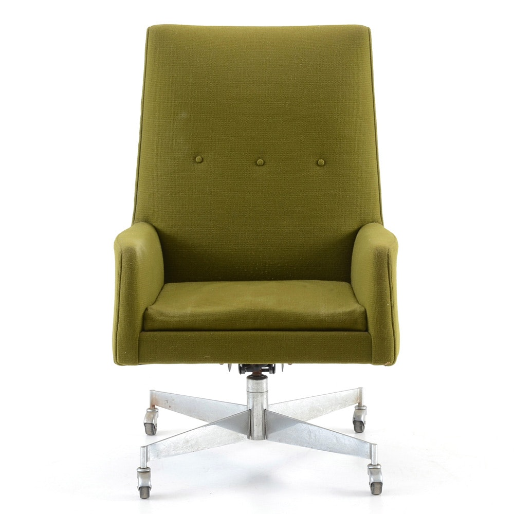 Jens Rison Green Woven Executive Chair